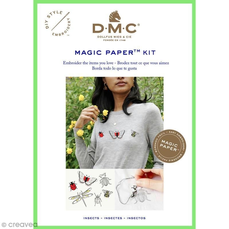 Kit broderie traditionnelle - DMC Magic Paper - Insect Collection - 5 pcs - Photo n°1