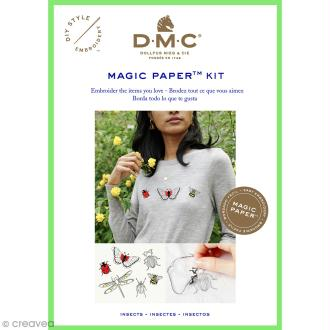 Kit broderie traditionnelle - DMC Magic Paper - Insect Collection - 5 pcs