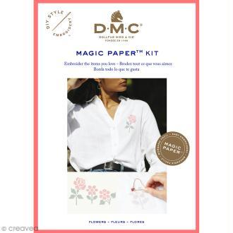Kit broderie point de croix - DMC Magic Paper - Flowers Collection - 5 pcs