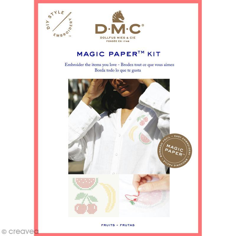 Kit broderie point de croix - DMC Magic Paper - Fruits Collection - 5 pcs - Photo n°1