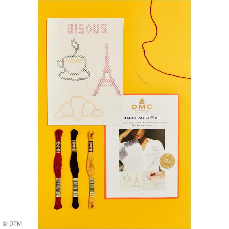 Kit broderie point de croix - DMC Magic Paper - French Collection - 5 pcs - Photo n°2