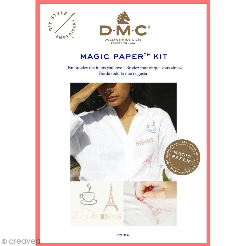 Kit broderie point de croix - DMC Magic Paper - French Collection - 5 pcs - Photo n°1