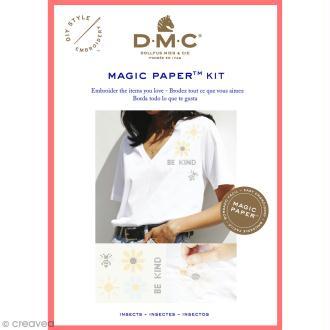 Kit broderie point de croix - DMC Magic Paper - Insect Collection - 5 pcs