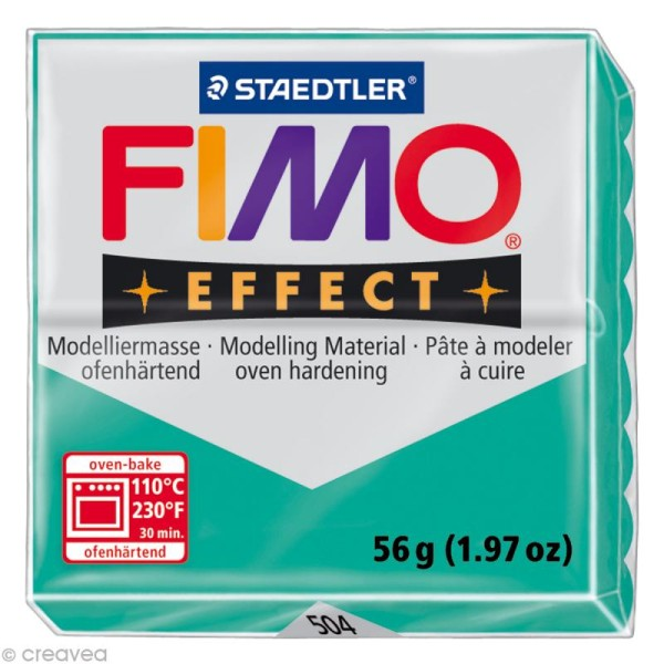 Pâte Fimo Effect Vert Translucide 504 - 56 gr - Photo n°1
