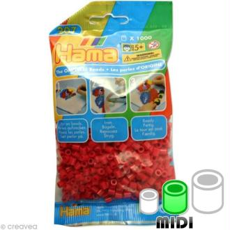 Perles Hama Midi diam. 5 mm - rouge vin x1000