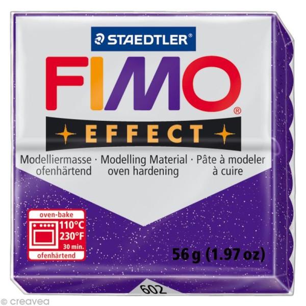 Pâte Fimo Effect Violet Métallique 602 - 56 gr - Photo n°1