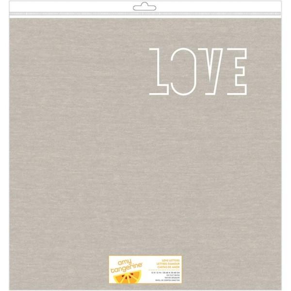 Papier découpé lettre d'amour - Love letters die cut paper - Photo n°1