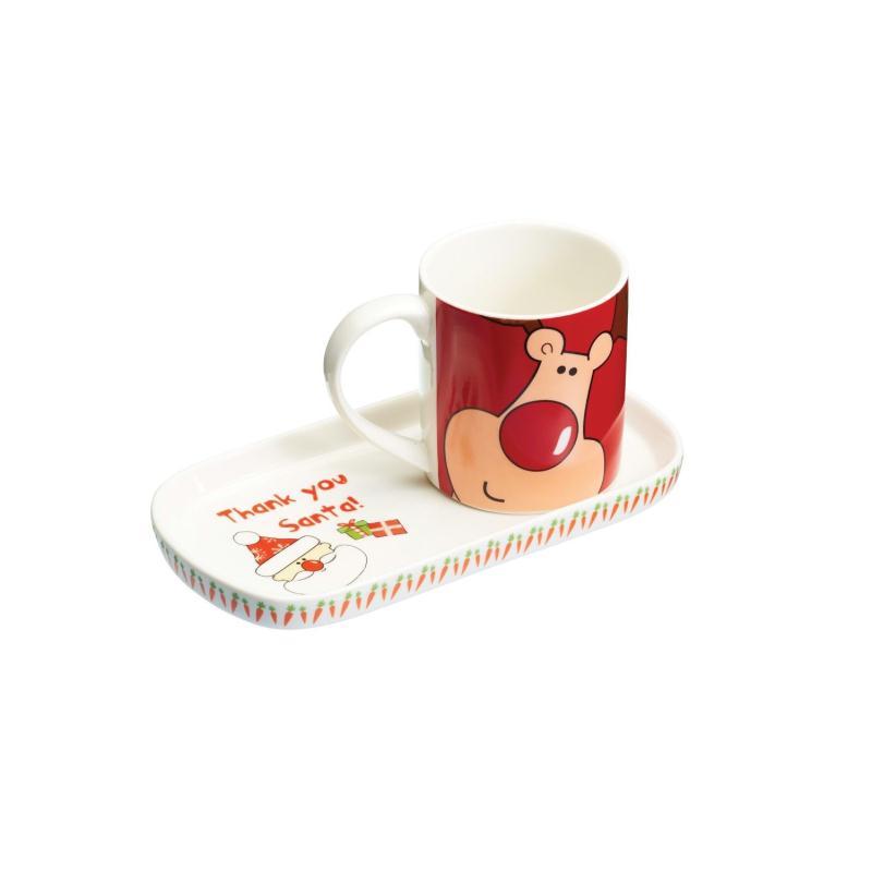 Ensemble grande tasse avec plateau biscuit accessoires - Creer sa deco de noel ...