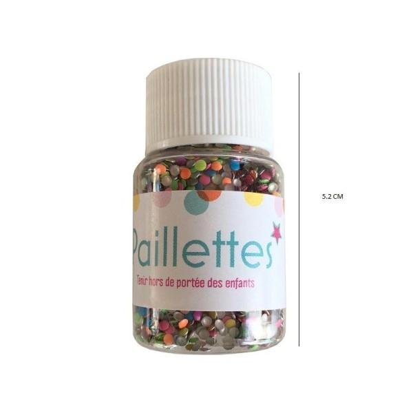 Paillettes rondes multicolores - 20 grammes - Photo n°1
