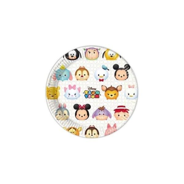 Lot de 8 assiettes de fête Tsum Tsum - Photo n°1