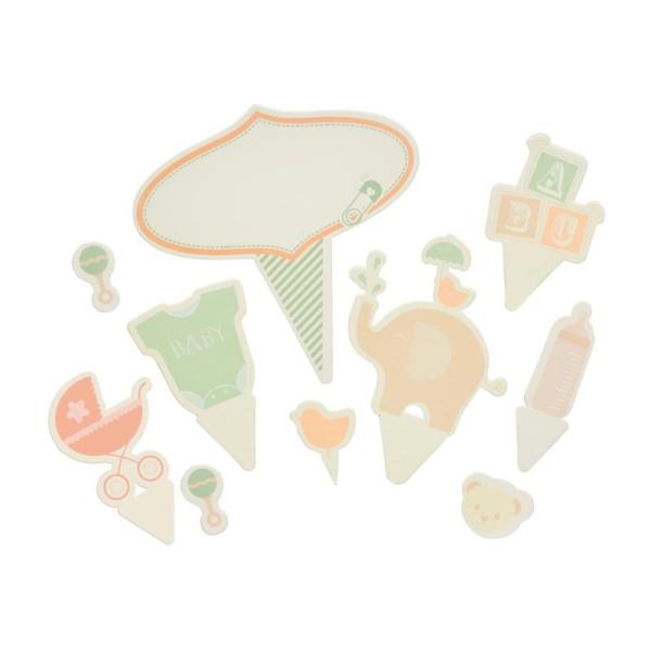 Décorations pour gâteaux - thème bébé - Photo n°1