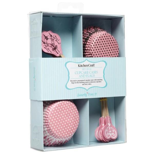 Kit de décoration cupcake - motif dentelle - Photo n°1