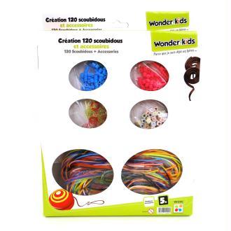 Coffret 120 scoubidous et accessoires