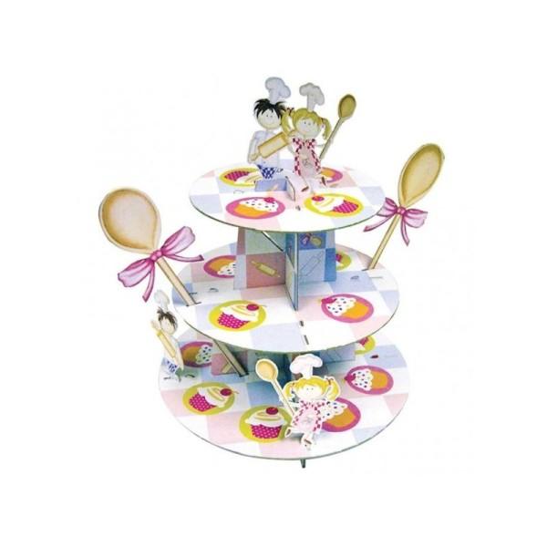 Présentoir à cupcakes 3 étages Little Cooks - Photo n°1
