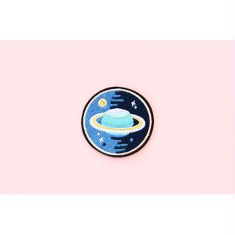 Patch planète, Écusson, Patch thermocollant, patch vêtement, Patch brodé