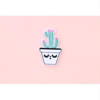 Patch Cactus, Écusson, Patch thermocollant, patch vêtement, Patch brodé
