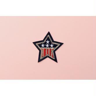Patch Étoile USA, Écusson, Patch thermocollant, patch vêtement, Patch sequin