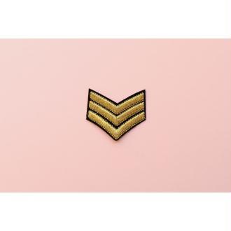 Patch Grade militaire, Écusson, Patch thermocollant, patch vêtement, Patch brodé