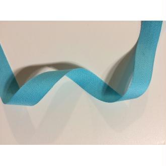 Ruban coton rouge surpiqu blanc largeur 10 mm rubans for Bleu turquoise clair