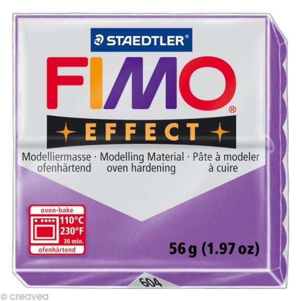 Pâte Fimo Effect Violet Translucide 604 - 56 gr - Photo n°1