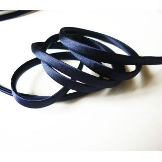 Cordon satin bleu marine spaghetti épais 7 mm - au mètre