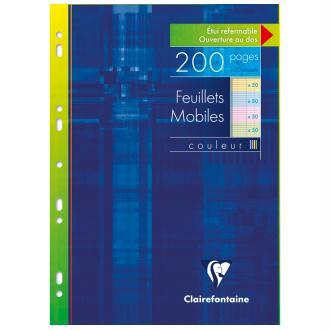 Feuillets mobiles assortis 21x29,7 - 200 pages - Séyès