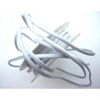 Cordon satin gris perle spaghetti épais 7 mm - au mètre