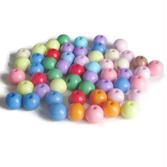 53  Perles Acrylique Mélange De Couleur 12Mm
