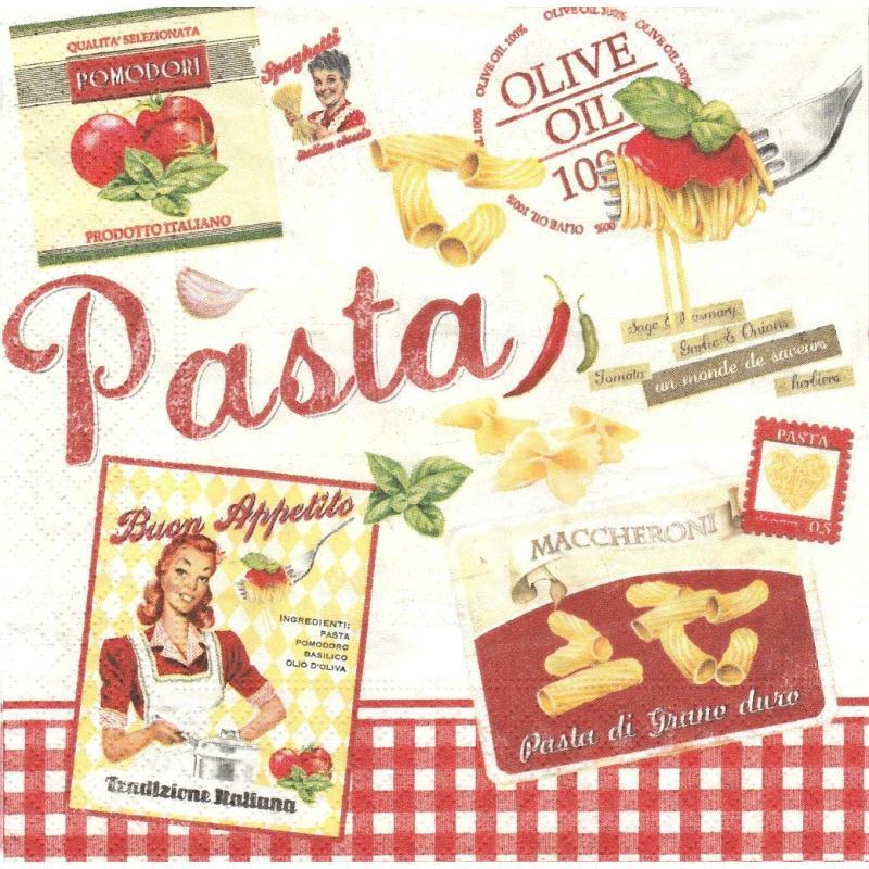 4 serviettes en papier cuisine italie p tes vintage home