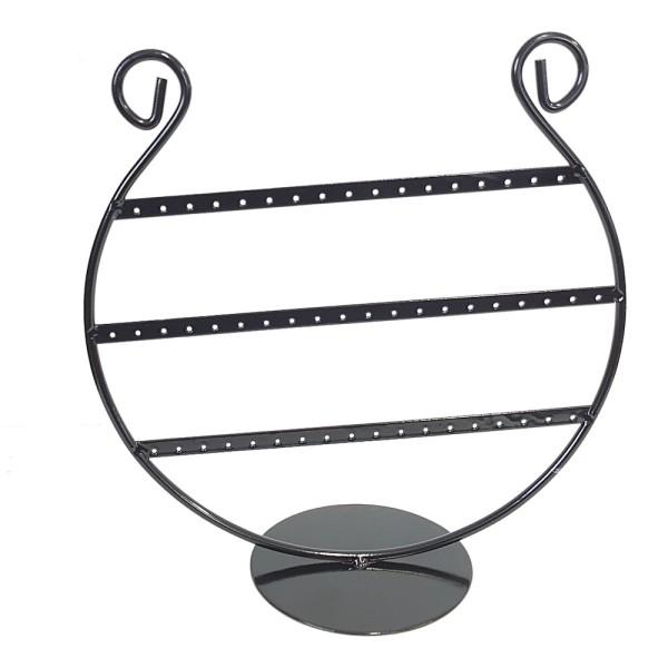 Porte bijoux porte boucle d'oreille lyre (27 paires) Noir - Photo n°1
