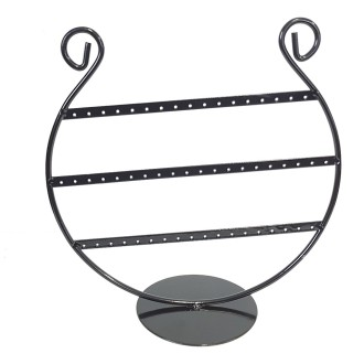 Porte bijoux porte boucle d'oreille lyre (27 paires) Noir