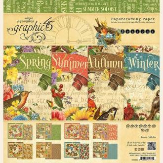 24 papiers fantaisis 30 x 30 cm Graphic 45 SEASONS