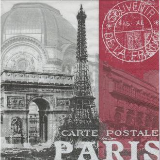 4 Serviettes en papier Capitale Paris Format Lunch