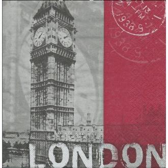 4 Serviettes en papier Capitale Londres Format Lunch