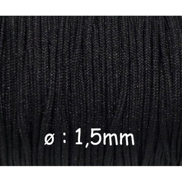 10m Fil De Jade 1,5mm Noir, Fil Nylon Résistant Et Souple - Photo n°1