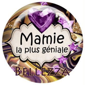 Cabochon En Rsine 25mm Mamie Gold Violet