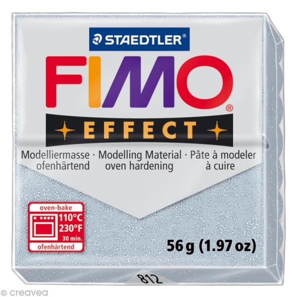 Pâte Fimo Effect Argent pailleté 812 - 56 gr - Photo n°1