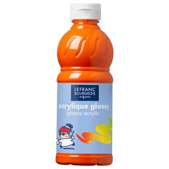Peinture Acrylique brillante Glossy Orange 500 ML
