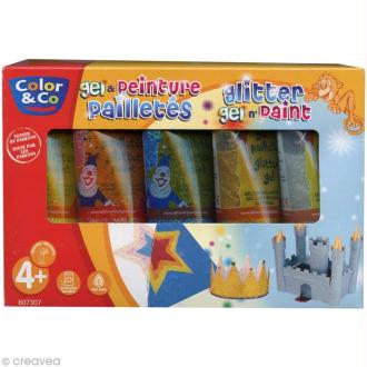 Assortiment Gouache pailletée Lefranc Bourgeois 5 x 75 ml