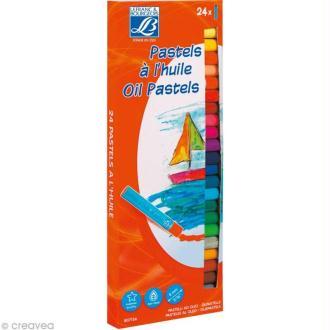 Pastels à l'huile Lefranc Bourgeois - Assortiment 24 x 8 mm