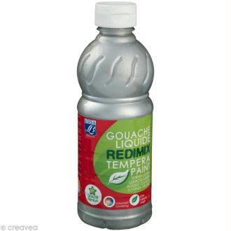 Gouache liquide Redimix Argent 500 ML