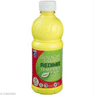 Gouache liquide Redimix Jaune Citron 500 ML