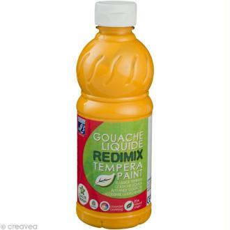 Gouache liquide Redimix Jaune d'Or 500 ML