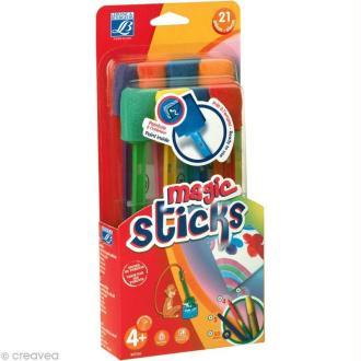 Kit Pinceaux Magic Sticks Education - 21 pièces