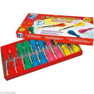 Boîte de 20 pinceaux Baby Brush - pour enfant