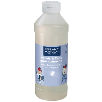 Vernis à l'eau pour gouache 1 litre