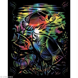 Carte à gratter Reeves Arc en ciel Aquarium - 31,5 x 21 cm