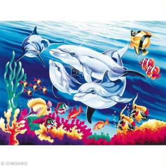 Peinture au numéro Reeves - Les dauphins
