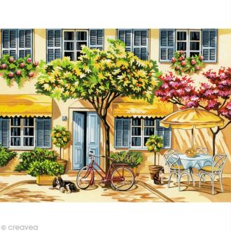 Peinture au numéro Reeves - Maison fleurie