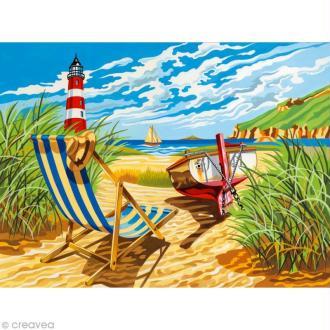Peinture au numéro Reeves - Vue sur le phare